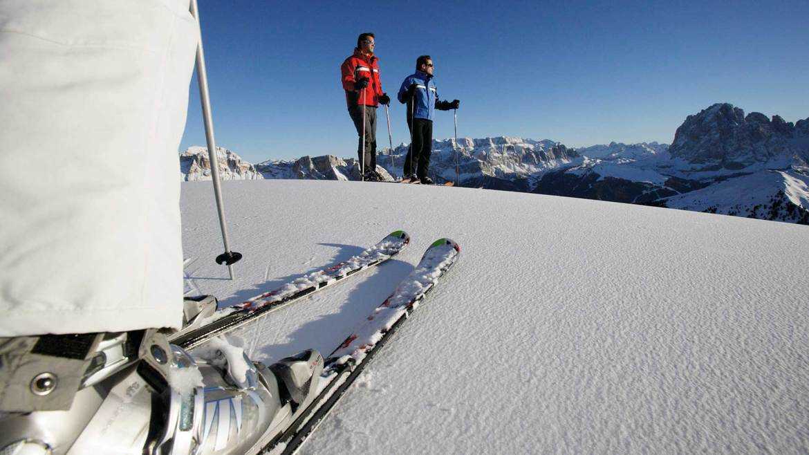 Skiing in the Dolomites in Valle Aurina